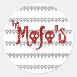 the Mofo's skull logo Sticker