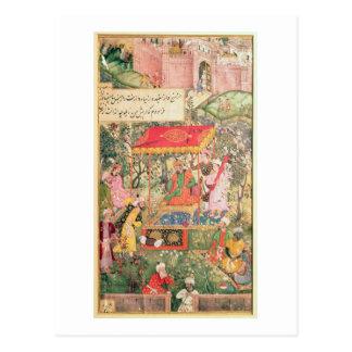 The Mogul Emperor Babur receives the envoys Uzbeg Post Cards