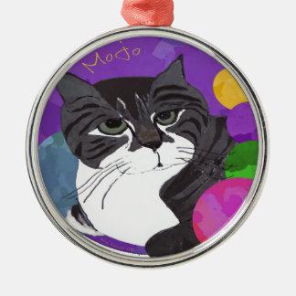 The Mojo Cat Metal Ornament