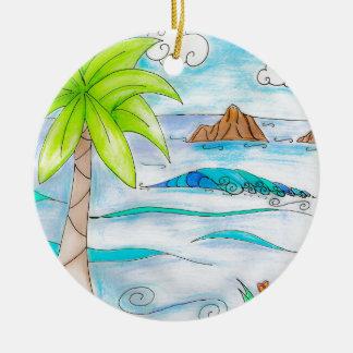 The Moks - Mokulua Islands Hawaii Ceramic Ornament