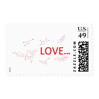 The Molecules of Love... Postage Stamp