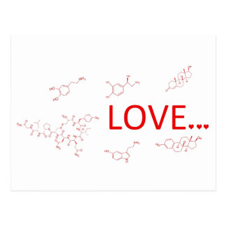 The Molecules of Love... Postcard