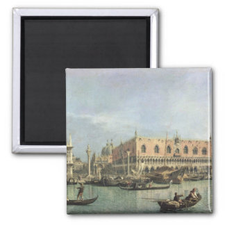 The Molo and the Piazzetta San Marco, Venice (oil 2 Inch Square Magnet
