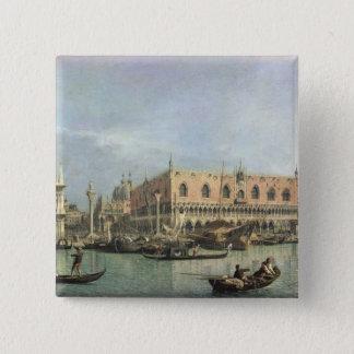 The Molo and the Piazzetta San Marco, Venice (oil Pinback Button