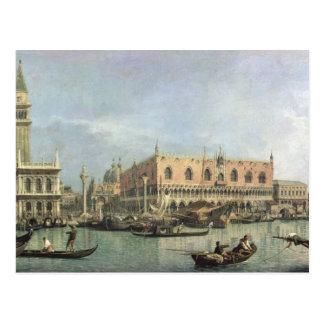 The Molo and the Piazzetta San Marco, Venice (oil Postcard
