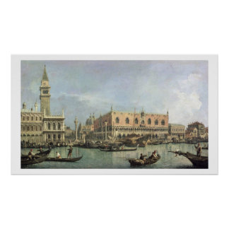 The Molo and the Piazzetta San Marco, Venice (oil Poster