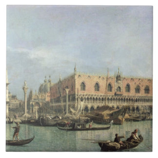 The Molo and the Piazzetta San Marco, Venice (oil Tile