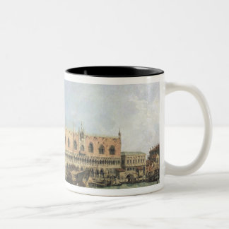 The Molo and the Piazzetta San Marco, Venice (oil Two-Tone Coffee Mug