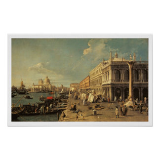 The Molo and the Zecca, Venice (oil on canvas) Poster
