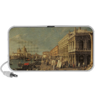 The Molo and the Zecca, Venice (oil on canvas) Laptop Speakers