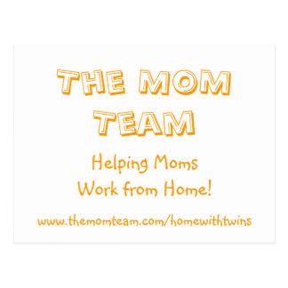 The MOM Team postcard