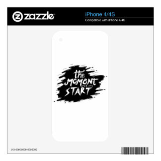The Moment for its start iPhone 4S Skins