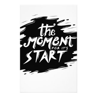 The Moment for its start Stationery