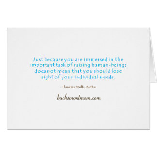 The Mom's Mantra Note Card