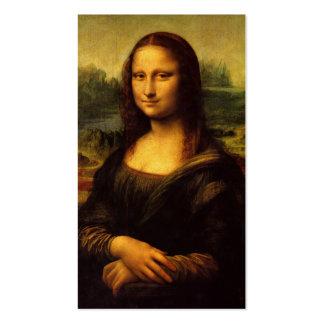 The Mona Lisa by Leonardo Da Vinci c. 1503-1505 Business Card Templates