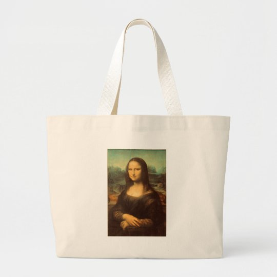 The Mona Lisa by Leonardo da Vinci Large Tote Bag