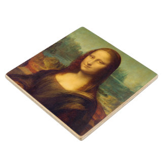 The Mona Lisa By Leonardo Da Vinci Wood Coaster