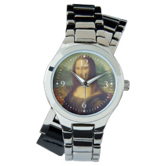 The Mona Lisa By Leonardo Da Vinci Wrist Watch