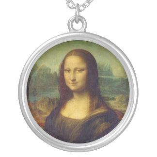 The Mona Lisa La Joconde by Leonardo Da Vinci Round Pendant Necklace