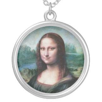 The Mona Lisa La Joconde La Gioconda by Da Vinci Round Pendant Necklace