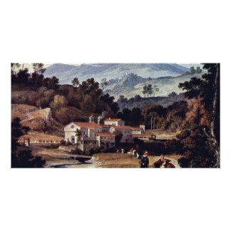 The Monastery Of San Francesco In Sabine Mts Near Customized Photo Card