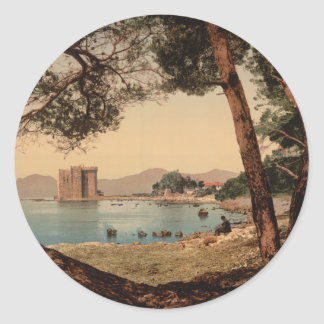 The Monastery of St Honorat, Cannes, France Classic Round Sticker