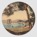 The Monastery of St Honorat, Cannes, France Round Sticker