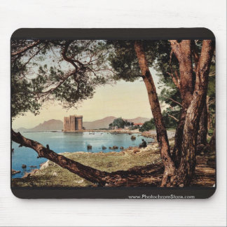 The monastery of St. Honorat, Cannes, Riviera vint Mouse Pads
