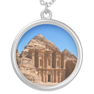 The Monastery Petra Jordan Round Pendant Necklace
