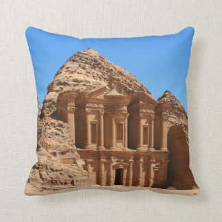 The Monastery Petra Jordan Throw Pillows