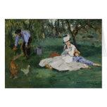 The Monet Family in Their Garden - Édouard Manet Card
