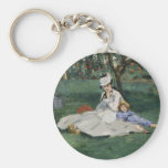 The Monet Family in Their Garden - Édouard Manet Key Chains