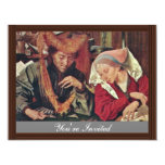 The Money Changer And His Wife By Reymerswaele Mar 4.25x5.5 Paper Invitation Card