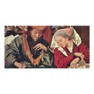 The Money Changer And His Wife By Reymerswaele Mar Personalized Photo Card