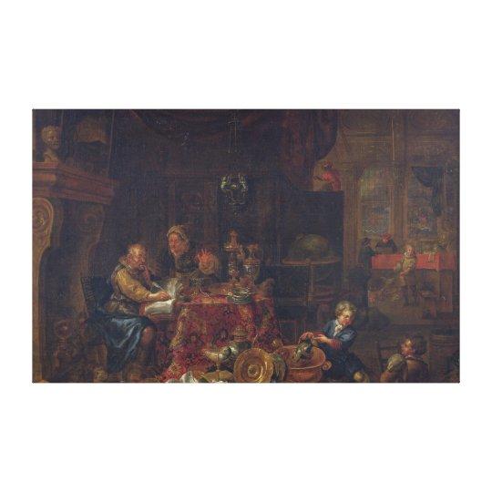 The Moneylenders Canvas Print