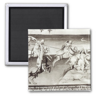 The Mongol leader, Hulagu, khan of the Ilkhanate 2 Inch Square Magnet