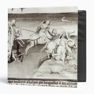The Mongol leader, Hulagu, khan of the Ilkhanate Vinyl Binders
