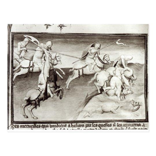 The Mongol leader, Hulagu, khan of the Ilkhanate Postcard