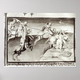 The Mongol leader, Hulagu, khan of the Ilkhanate Poster