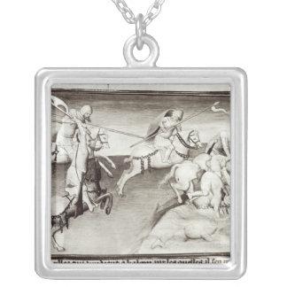 The Mongol leader, Hulagu, khan of the Ilkhanate Square Pendant Necklace