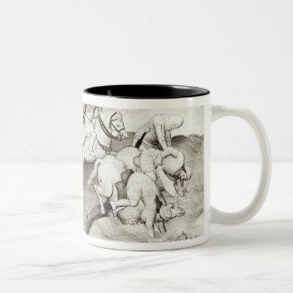 The Mongol leader, Hulagu, khan of the Ilkhanate Two-Tone Coffee Mug