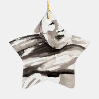 The Monk Ceramic Ornament
