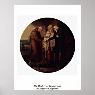 The Monk From Calais Tondo By Angelika Kauffmann Print