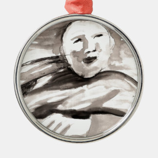 The Monk Metal Ornament