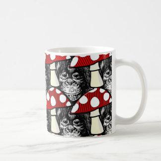 The Monkey and the Mushroom Coffee Mug