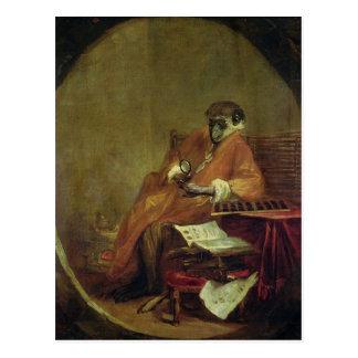 The Monkey Antiquarian, 1740 Postcard