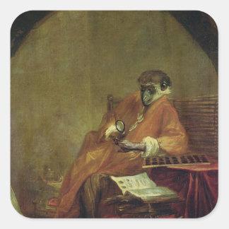 The Monkey Antiquarian, 1740 Square Sticker