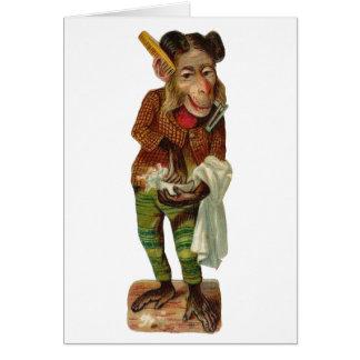 The Monkey Barber Card