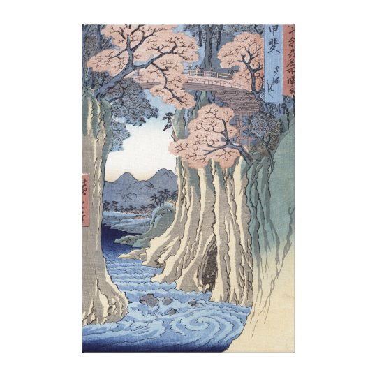 The monkey bridge in the Kai province Canvas Print