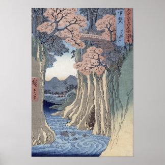 The monkey bridge in the Kai province Poster